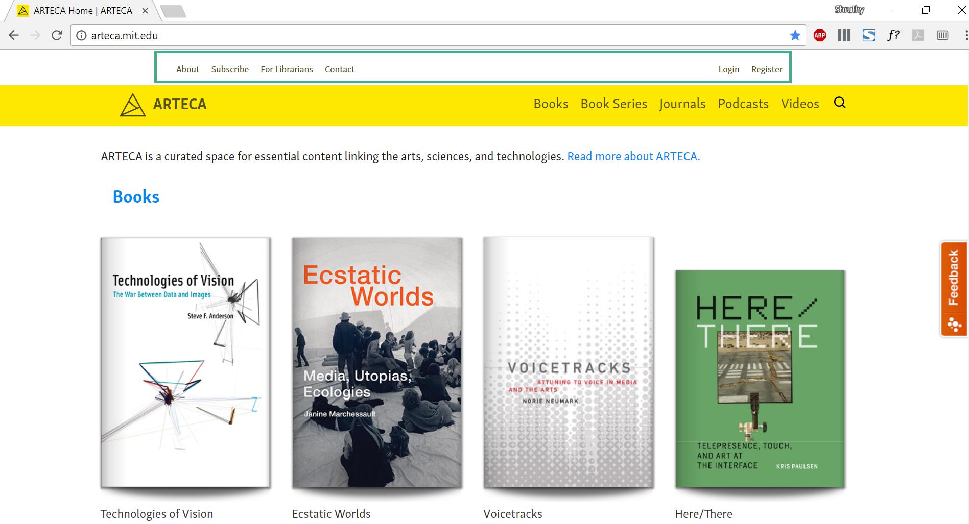 Book shelf. Detectives in Arteca